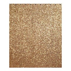 Copper Rose Gold Metallic Glitter Shower Curtain 60  x 72  (Medium)