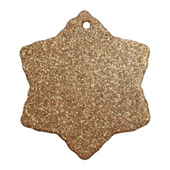Copper Rose Gold Metallic Glitter Ornament (Snowflake)