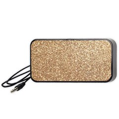 Copper Rose Gold Metallic Glitter Portable Speaker (Black)