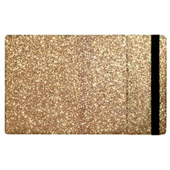 Copper Rose Gold Metallic Glitter Apple iPad 3/4 Flip Case