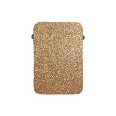 Copper Rose Gold Metallic Glitter Apple iPad Mini Protective Soft Cases
