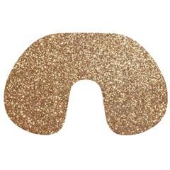 Copper Rose Gold Metallic Glitter Travel Neck Pillows