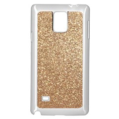 Copper Rose Gold Metallic Glitter Samsung Galaxy Note 4 Case (White)