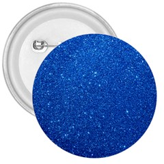 Night Sky Sparkly Blue Glitter 3  Buttons