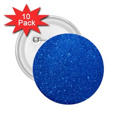Night Sky Sparkly Blue Glitter 2.25  Buttons (10 pack)