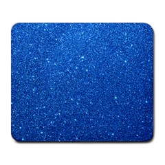 Night Sky Sparkly Blue Glitter Large Mousepads