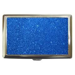 Night Sky Sparkly Blue Glitter Cigarette Money Cases