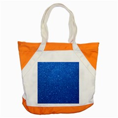 Night Sky Sparkly Blue Glitter Accent Tote Bag