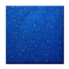 Night Sky Sparkly Blue Glitter Face Towel