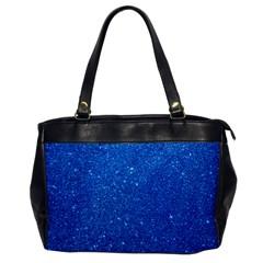 Night Sky Sparkly Blue Glitter Office Handbags