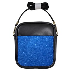 Night Sky Sparkly Blue Glitter Girls Sling Bags