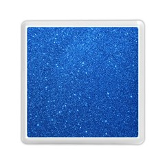 Night Sky Sparkly Blue Glitter Memory Card Reader (Square)