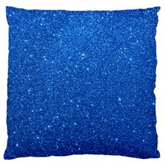 Night Sky Sparkly Blue Glitter Large Cushion Case (One Side)