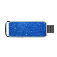 Night Sky Sparkly Blue Glitter Portable USB Flash (One Side)
