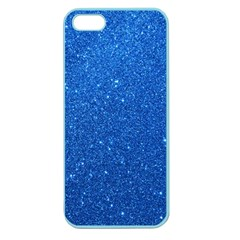 Night Sky Sparkly Blue Glitter Apple Seamless iPhone 5 Case (Color)