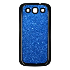 Night Sky Sparkly Blue Glitter Samsung Galaxy S3 Back Case (black)