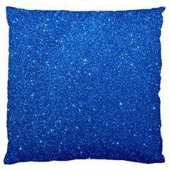 Night Sky Sparkly Blue Glitter Large Flano Cushion Case (Two Sides)