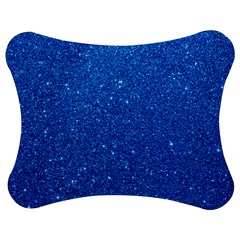 Night Sky Sparkly Blue Glitter Jigsaw Puzzle Photo Stand (Bow)