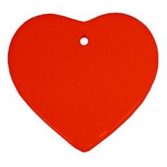Bright Fluorescent Attack Orange Neon Ornament (Heart)