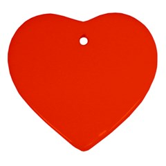 Bright Fluorescent Attack Orange Neon Heart Ornament (Two Sides)