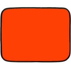 Bright Fluorescent Attack Orange Neon Fleece Blanket (Mini)
