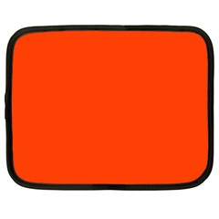 Bright Fluorescent Attack Orange Neon Netbook Case (XL)