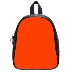 Bright Fluorescent Attack Orange Neon School Bags (Small)