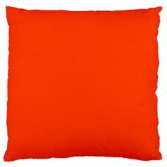 Bright Fluorescent Attack Orange Neon Large Flano Cushion Case (One Side)