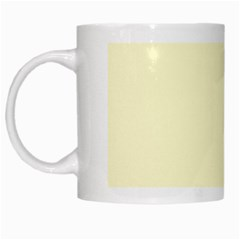 Pastel Lemon Yellow Pale Soft Meringue Yellow White Mugs