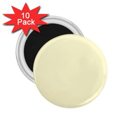 Pastel Lemon Yellow Pale Soft Meringue Yellow 2.25  Magnets (10 pack)