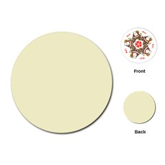 Pastel Lemon Yellow Pale Soft Meringue Yellow Playing Cards (Round)