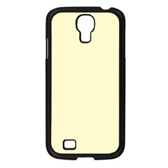Pastel Lemon Yellow Pale Soft Meringue Yellow Samsung Galaxy S4 I9500/ I9505 Case (Black)