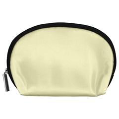 Pastel Lemon Yellow Pale Soft Meringue Yellow Accessory Pouches (Large)