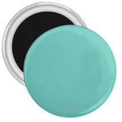 Tiffany Aqua Blue Puffy Quilted Pattern 3  Magnets