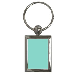 Tiffany Aqua Blue Puffy Quilted Pattern Key Chains (Rectangle)