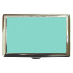 Tiffany Aqua Blue Puffy Quilted Pattern Cigarette Money Cases