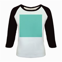 Tiffany Aqua Blue Puffy Quilted Pattern Kids Baseball Jerseys