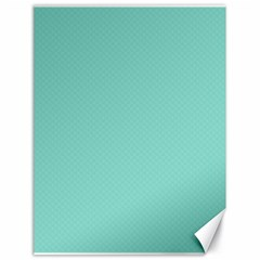 Tiffany Aqua Blue Puffy Quilted Pattern Canvas 18  x 24