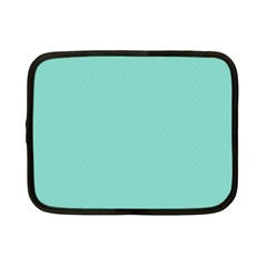 Tiffany Aqua Blue Puffy Quilted Pattern Netbook Case (Small)