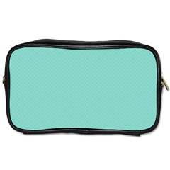 Tiffany Aqua Blue Puffy Quilted Pattern Toiletries Bags