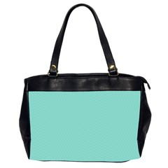 Tiffany Aqua Blue Puffy Quilted Pattern Office Handbags (2 Sides)