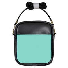 Tiffany Aqua Blue Puffy Quilted Pattern Girls Sling Bags