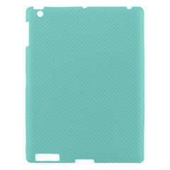 Tiffany Aqua Blue Puffy Quilted Pattern Apple iPad 3/4 Hardshell Case