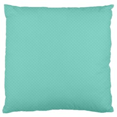 Tiffany Aqua Blue Puffy Quilted Pattern Large Cushion Case (Two Sides)