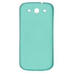 Tiffany Aqua Blue Puffy Quilted Pattern Samsung Galaxy S3 S III Classic Hardshell Back Case