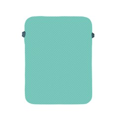 Tiffany Aqua Blue Puffy Quilted Pattern Apple iPad 2/3/4 Protective Soft Cases
