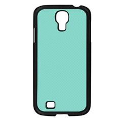 Tiffany Aqua Blue Puffy Quilted Pattern Samsung Galaxy S4 I9500/ I9505 Case (Black)