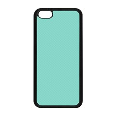 Tiffany Aqua Blue Puffy Quilted Pattern Apple iPhone 5C Seamless Case (Black)