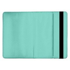 Tiffany Aqua Blue Puffy Quilted Pattern Samsung Galaxy Tab Pro 12.2  Flip Case