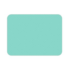 Tiffany Aqua Blue Puffy Quilted Pattern Double Sided Flano Blanket (Mini)